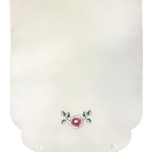 Pink embroidered chair back