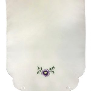 Lilac embroidered chair back