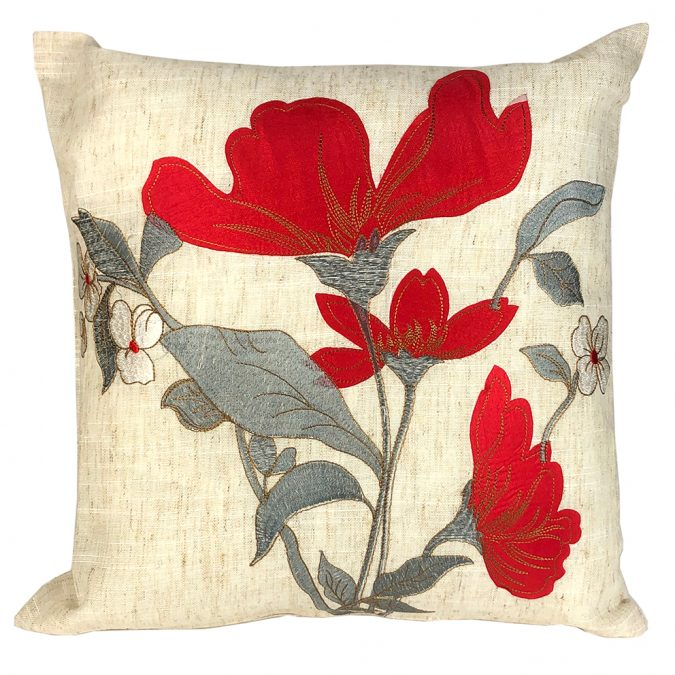 Jasmin red cushion cover