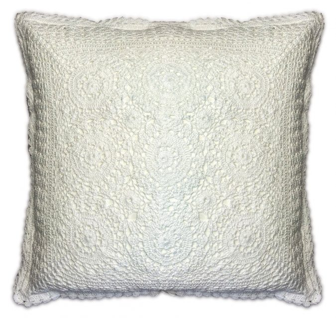 white lace cushion covers