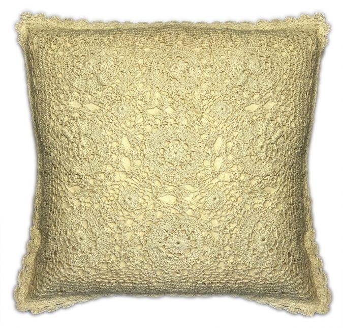 Cream lace cushion covers